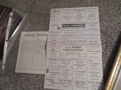 WATERLOO IL ILLINOIS 1930 era advertising billboard paper and Schroeders Soda !!