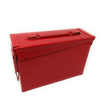 Genuine US Military 30 Cal Ammo Can M19A1 7.62mm .30 Caliber Red
