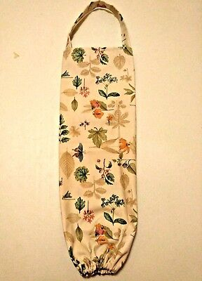 Handmade Longaberger Botanical Fields Fabric Plastic Bag Holder New Free Ship