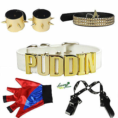 Harley Quinn Suicide Squad Cosplay Costume Accessories Glove Belt Holster Lot