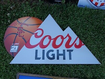 American Metal Embossed Beer Sign Coors Light