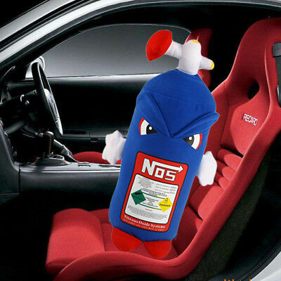 JDM NOS w/Face Pillow Plush Toy Cushion Backrest Turbo Neck Rest Gift Decor
