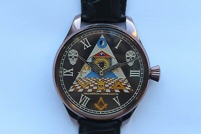 VACHERON CONSTANTIN Vintage Watch Swiss MASONIC TRIANGLE SYMBOLIC SKULL ART DECO