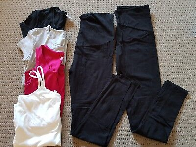 Size 12 Maternity Clothes - tops & leggings