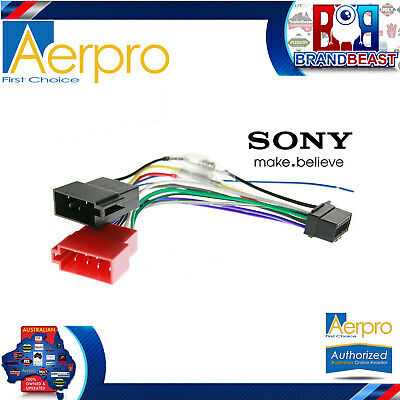 Aerpro Sony To Iso Connector Plug Harness 16 Pin For MEX-N4200BT Wiring Loom