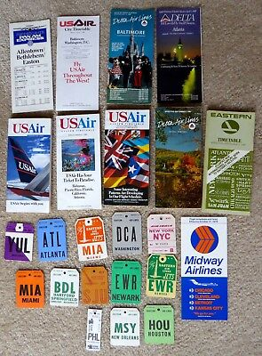 Airline City Bag Tags And Timetables