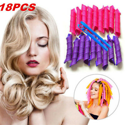 18PCS  Magic Hair Curler Leverag Curlers Formers Spiral Styling Rollers DIY Tool