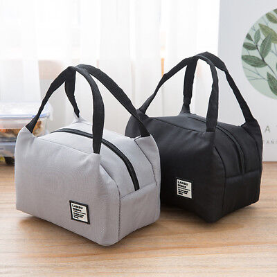 For Women/Kids/Men Insulated Canvas Box Tote Bag Thermal Cooler Food Lunch Bags