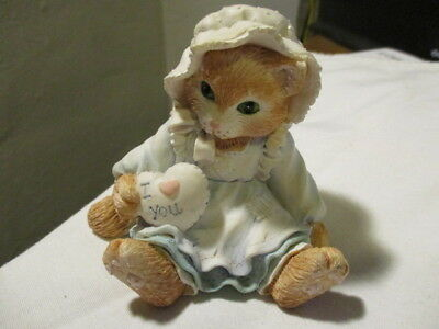 """CALICO KITTENS  """"Love Is The Heart Of Friendship"""" Lady Kitten With Heart  1993"""