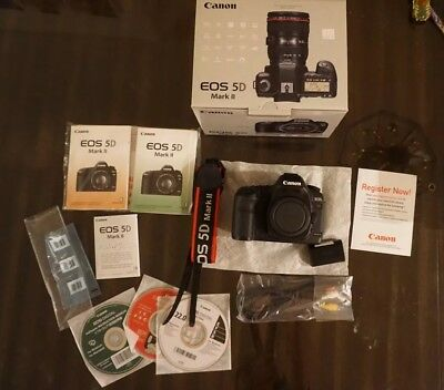Canon EOS 5D Mark II 21.1MP Digital SLR Camera - Black (Body Only) LNIB