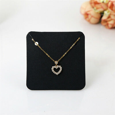100Pcs Jewelry Necklace Bracelet Hanging Holder Earrings Display Paper Cards DIY