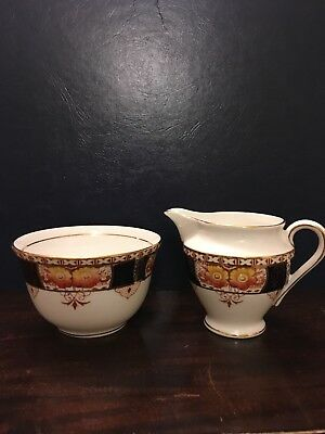 Colclough China Vintage Creamer,Sugar Bowl
