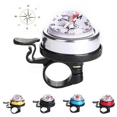 Bike Bicycle Invisible Bell Aluminum Loud Sound Compass Handlebar Safety HorBLBD
