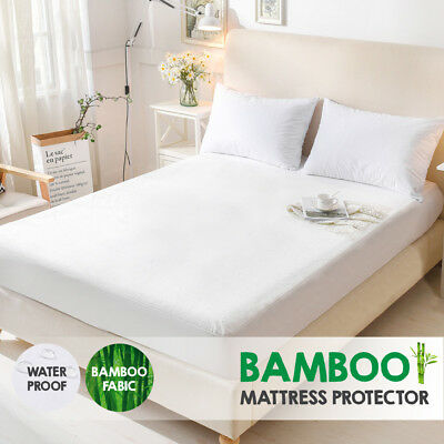 Bamboo Terry Pile Fully Fitted Waterproof Mattress Protector---ALL SIZE Choice