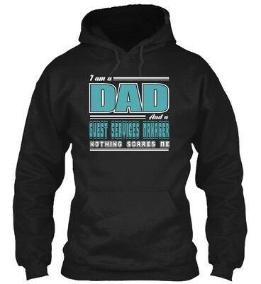 Great Dad And Guest Services Manager Job Scare S - I Am Gildan Hoodie Sweatshirt