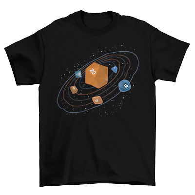 2ccfb765fc6c D20 Dungeons & Dragons T-Shirt Mens Unisex Cotton Adult Sizes Galaxy Space  New
