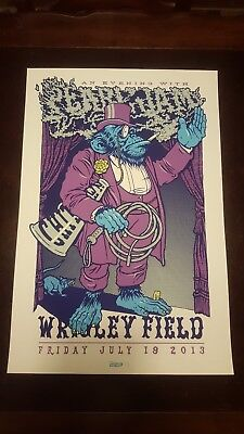 Pearl Jam Poster Ames Wrigley 2013 Very Good Condition S/N
