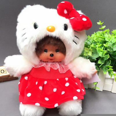 New Fashion Kiki Doll Plush Monchichi Hello Kitty Kid Toy Gift Cute Horns