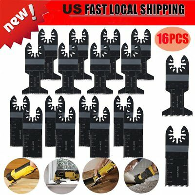 16pcs Universal Oscillating Multi Tool Saw Blades Set Carbon Steel Cutter DIY OY