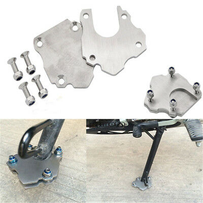 Universal Stainless Steel Side Kickstand Stand Extension Plate For Motorcycles