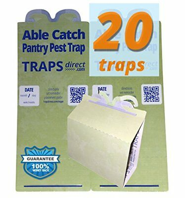 20 Pantry Moth Traps - Pheromone Lure, USA Made, Safe, Natural, Effective