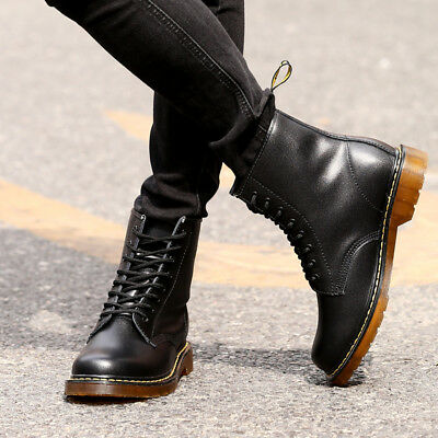 Men Leather Shoes Military Tactical Army Battle Combat Boots Warm Outdoor Casual