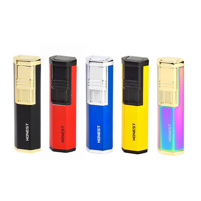 HONEST Colorful Windproof Stainless Steel Jet Torch Cigarette Lighter