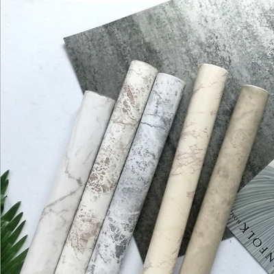 10M!! Wall Paper Rolls Marble Brick Adhesive Home Wallpaper Decal Brown Stone AU
