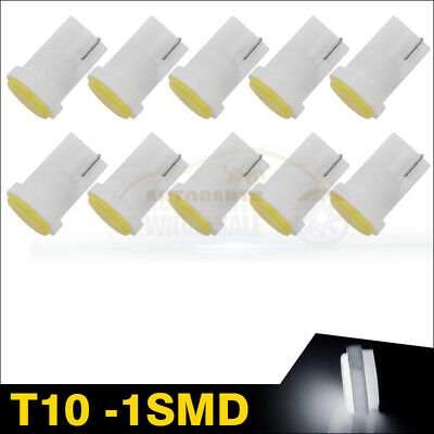 10pcs Wedge W5W T10 COB LED Side Bulb Interior Instrument Panel Light Pure White