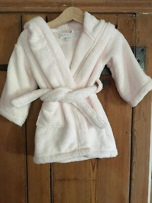 White Company Pink 6-12 Month Dressing Gown