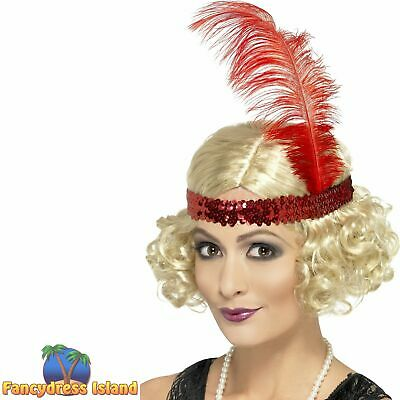 20's Charleston Blonde Curly Flapper Wig Adult Womens Fancy Dress Costume