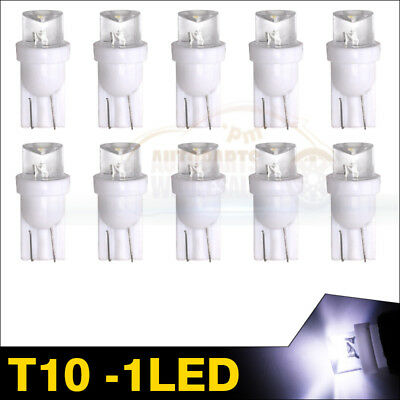 10pcs White LED 168 194 T10 1SMD W5W 175 Interior Dome Cargo Reading Light Bulb
