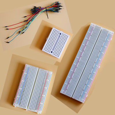 Solderless Prototype PCB Breadboard + Optional 65pcs Jumper Leads Wires UZ