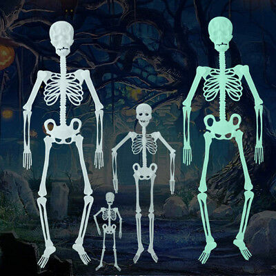 Halloween Props Luminous Human Skeleton Hanging Decoration Outdoor Party Z