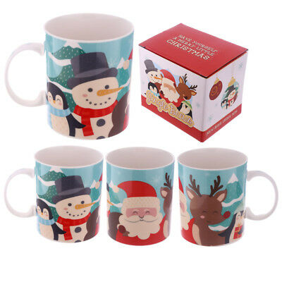 Christmas New Bone China Mug - Buddies Design