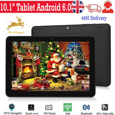 "10.1"" Inch Tablet PC Android 6.0 Google Quad-core Wifi 32GB Dual Camera GPS UK"