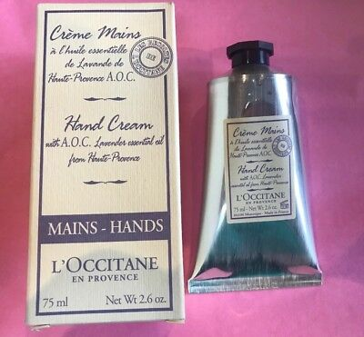 L'occitane A.O.C. Lavender Harvest Hand Cream 75ml RARE Discontinued New Unused
