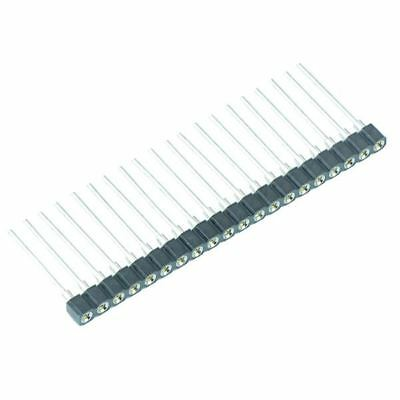 20 Way 2.54mm Turned Pin Single In Line SIL Socket 17.8mm Height