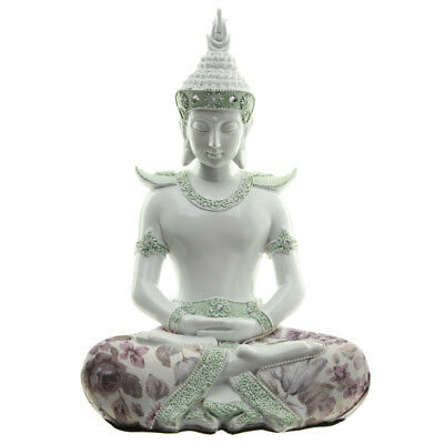 Decorative Floral Thai Buddha Mindful Figurine