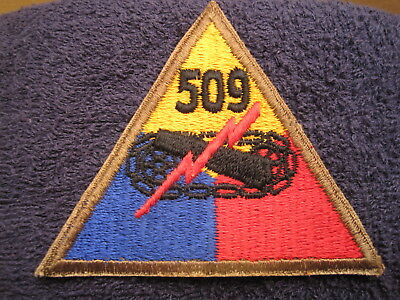 US ARMY WWII 509th ARMORED TANK BATTALION A PERFECT VINTAGE REAL DEAL ORIGINAL