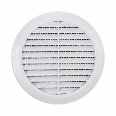 """Air Vent Grille Circle 125mm 5"""" White Round Ventilation Cover with Flysreen"""