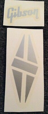 Guitar waterslide headstock decal Silver