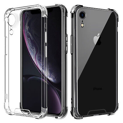 For iPhone XR Case Clear Ultra Slim Bumper Shockproof Protective Hybrid PC Cover