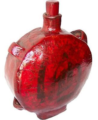 Chinese Red Antique Hip Flask Wine Storage Carrying Bottle (Wbtl)