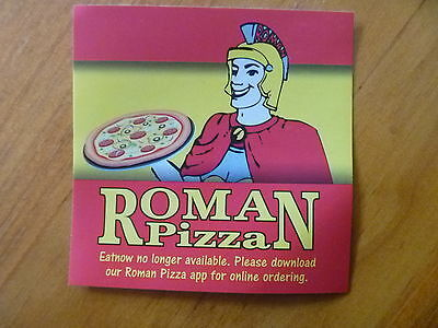 Sticker...pizza Bar / Restaurant...roman Soldier Legion..roman Empire