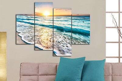 Framed split canvas prints seascape print Sunset beach modern art wall ocean