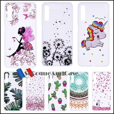 Etui housse coque silicone Transparentes TPU Case Cover Samsung Galaxy A7 (2018)