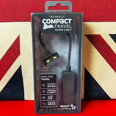 The Really Compact Travel Book Light - Grey. Pocket Sized Reading Light. *NEW*