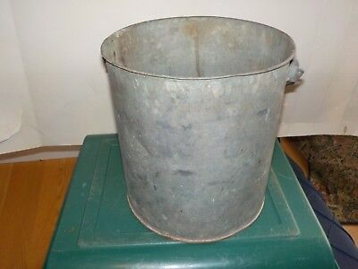 Galvanized Bucket Milk Maybe Pail Decor Bucket Vintage Size 9 By 8.5 ""