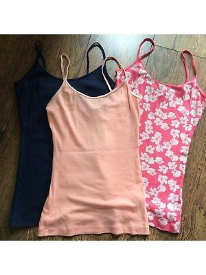 Small Job Lot 3 x Women's New Look Vest Tops Size XS Excellent Condition